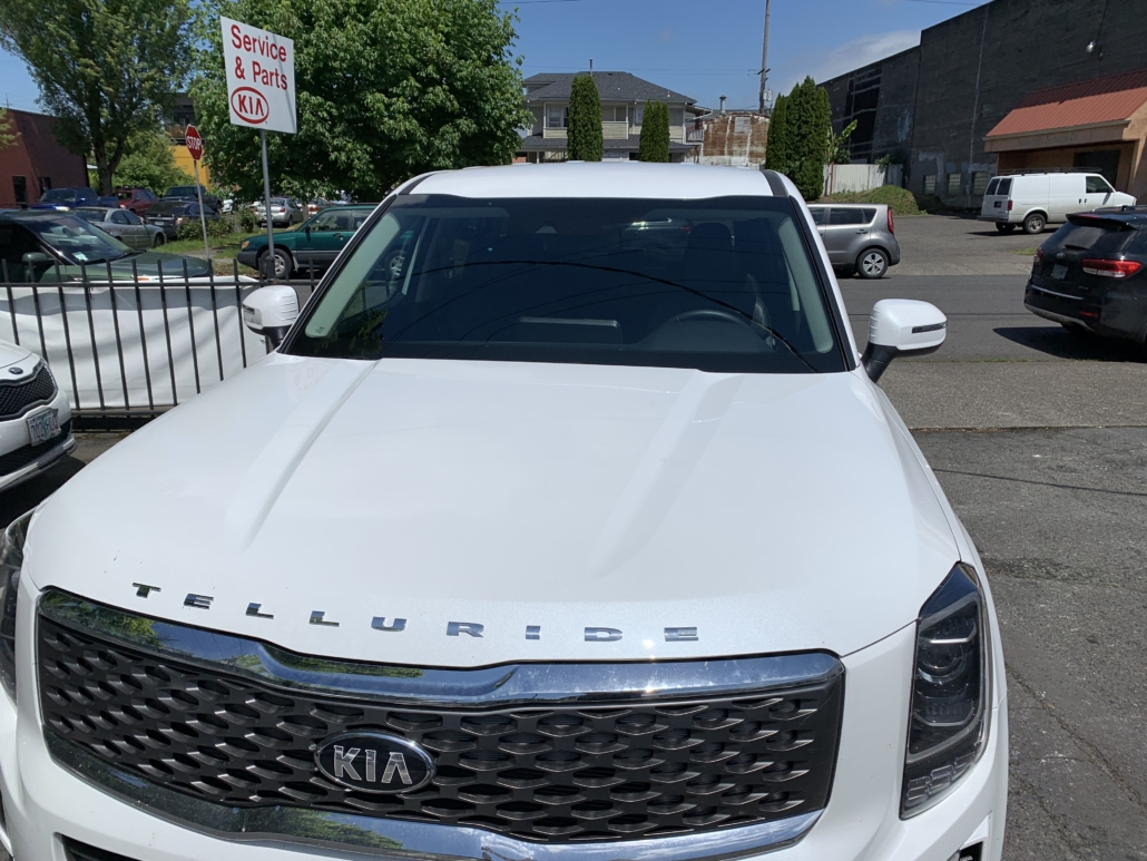Kia front windshield