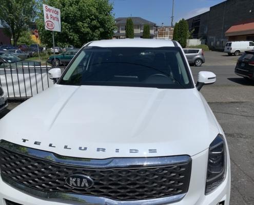 Kia front windshield